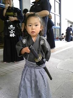 ちび龍馬、西日本勤労者剣道大会にゆく